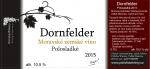 Dornfelder 2015, Zemské víno (Polosladké), Polivka Winery