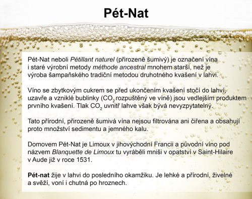 Pét-Nat - přirozeně šumivá vína