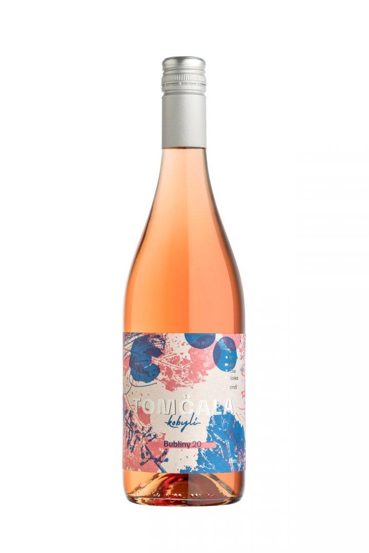 6 × Bubliny rosé 2020, zemské víno - perlivé, Vinařství Tomčala, polosladké