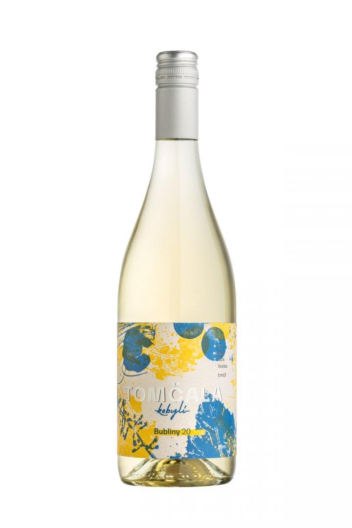 6 × Bubliny 2020, zemské víno - perlivé, Vinařství Tomčala, polosuché