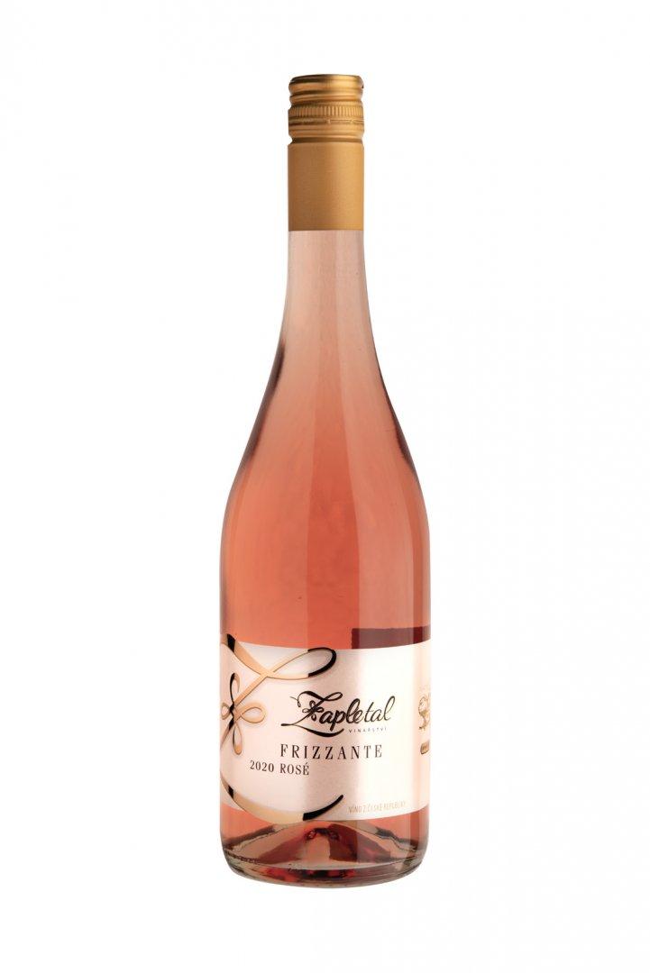 6 × Frizzante Rosé 2020, zemské víno - perlivé, Vinařství Zapletal, polosuché