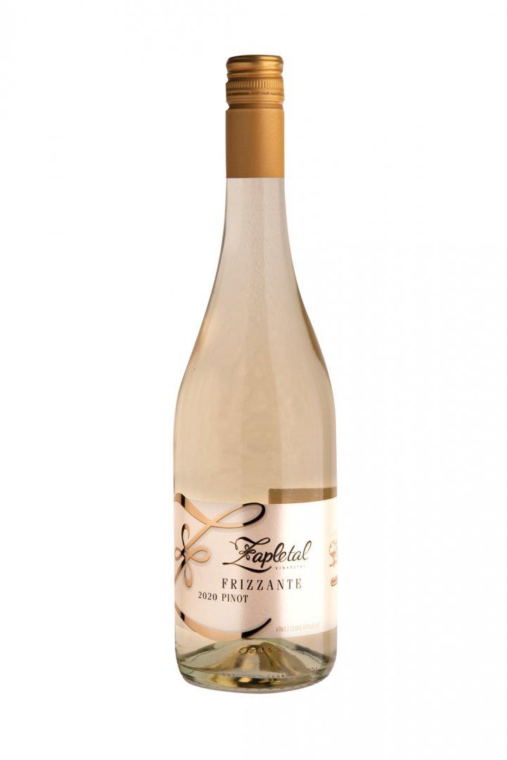 6 × Frizzante Pinot 2020, zemské víno - perlivé, Vinařství Zapletal, polosuché