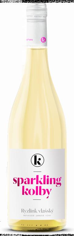 6 × Sparkling Ryzlink vlašský 2020, zemské víno - perlivé, Kolby, polosuché