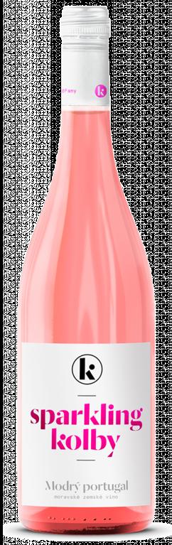 6 × Sparkling rosé /Modrý Portugal/ 2020, zemské víno - perlivé, Kolby, polosladké