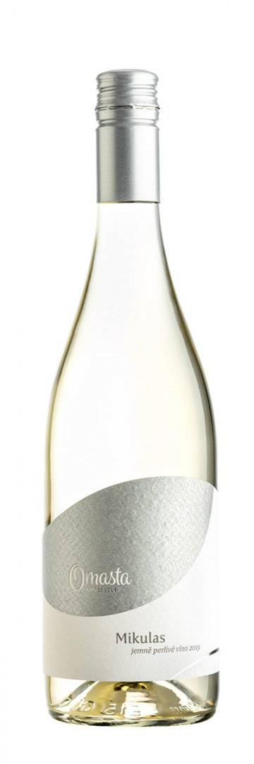 6 × Frizzante Mikulas 2020, zemské víno - perlivé, Vinařství Omasta, polosladké