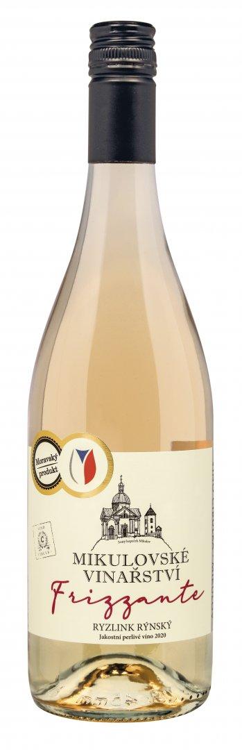 6 × Ryzlink rýnský, jakostní perlivé víno, Víno Cibulka, polosladké