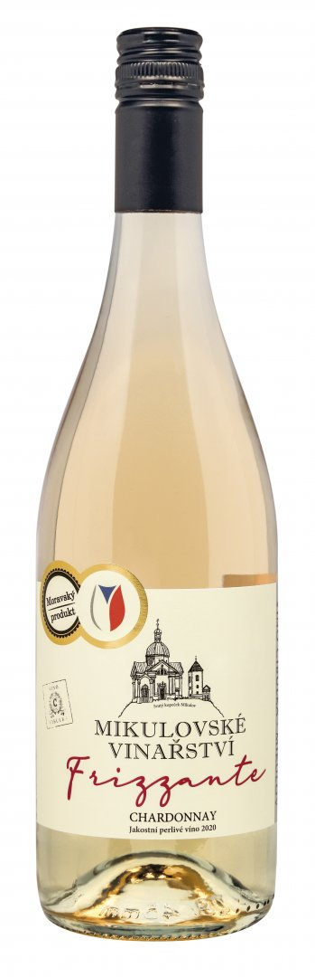 6 × Chardonnay, jakostní perlivé víno, Víno Cibulka, polosladké