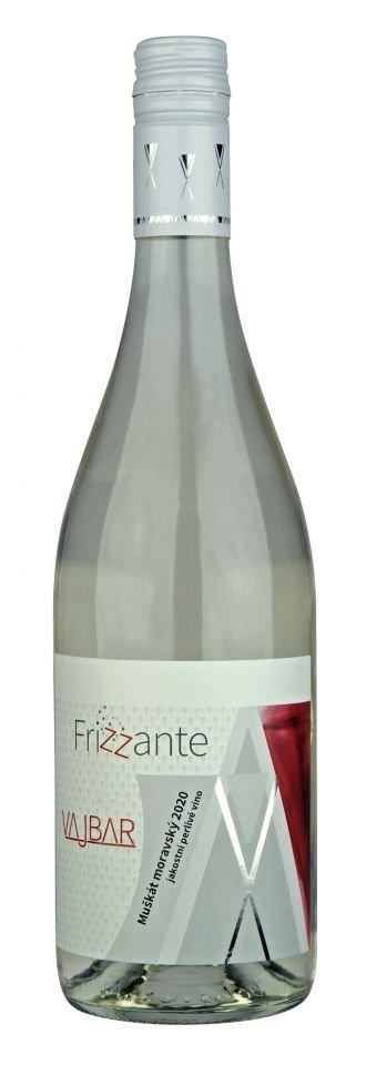 6 × Muškát moravský frizzante 2020, jakostní perlivé víno, Vinařství Vajbar, polosladké