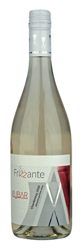 6 × Chardonnay frizzante 2020, jakostní perlivé víno, Vinařství Vajbar, suché