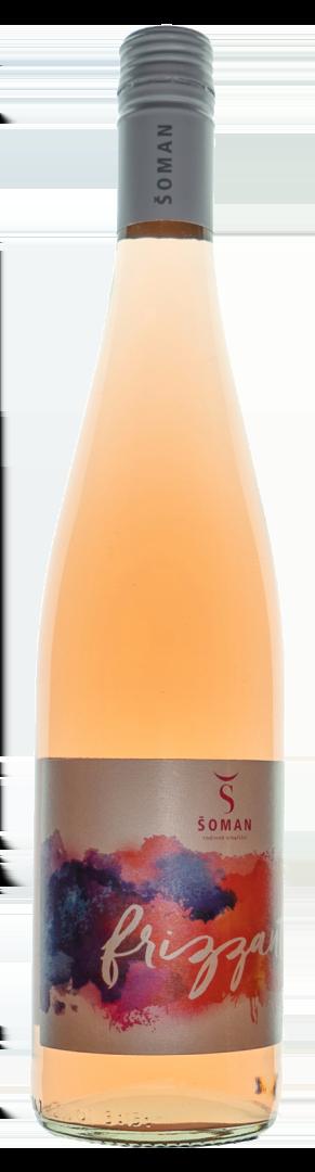 6 × Zweigeltrebe rosé Frizzante 2020, zemské víno - perlivé, Vinařství Šoman, polosuché