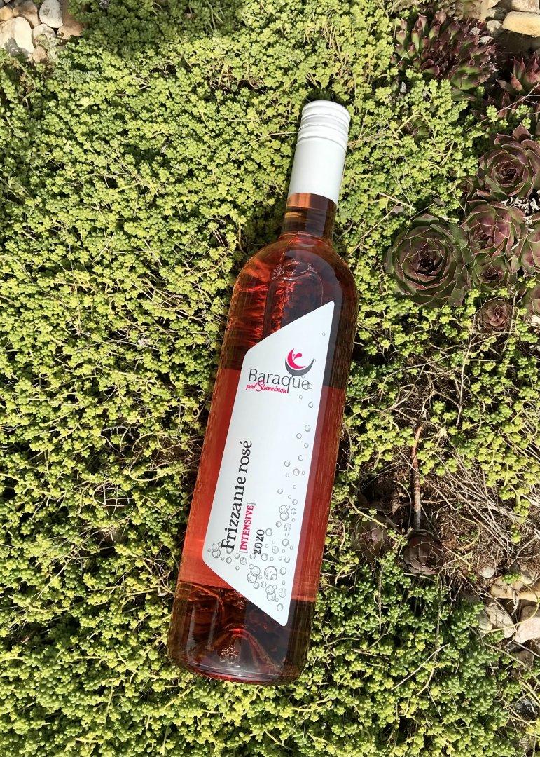 6 × Frizzanté rosé 2020, zemské víno - perlivé, Vinařství Baraque, polosladké