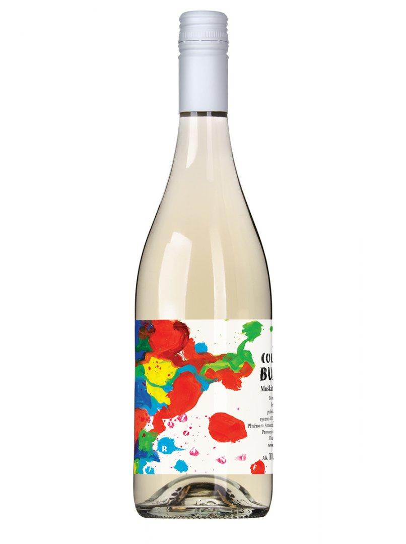 6 × Muškát moravský - jemně perlivé víno 2020, zemské víno, Vinařství Pod Kumstátem, polosladké