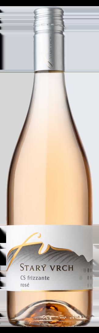 6 × CS Frizzante Rose 2020, zemské víno - perlivé, Starý vrch, polosuché
