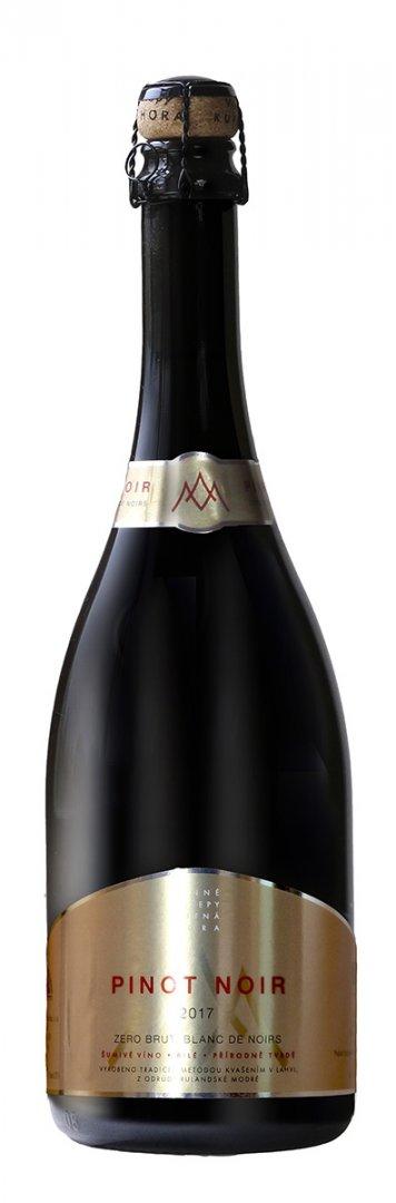 6 × Pinot Noir 2017, zemské víno - perlivé, Vinné sklepy Kutná Hora, extra brut