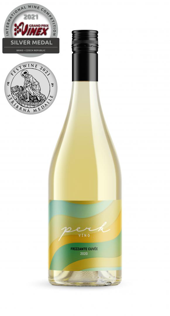 6 × Frizzante cuvée 2020, zemské víno - perlivé, Perk víno, polosuché