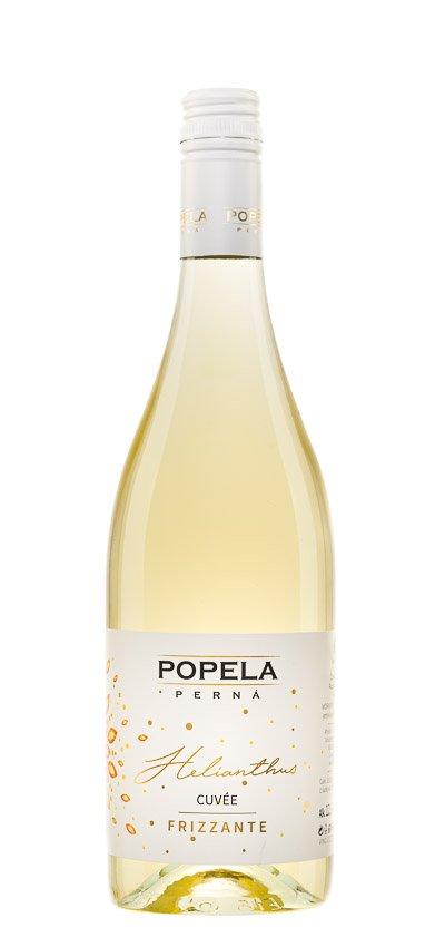 6 × Frizzante Helianthus Alba 2019, jakostní perlivé víno, Vinařství Popela Perná, polosladké