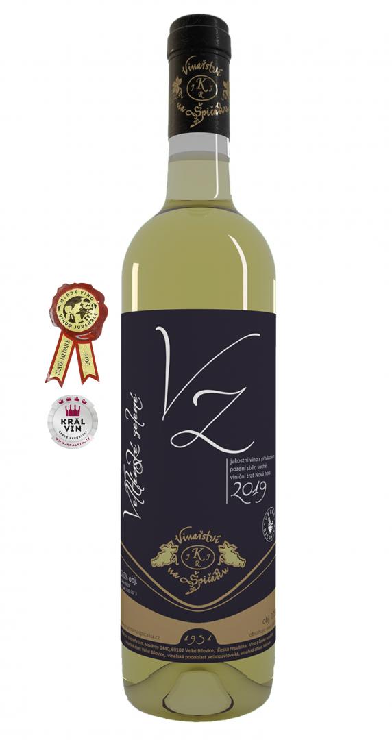 6 × Veltlínské zelené 2019, pozdní sběr, Vinařství na Špičáku, suché