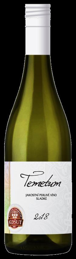 6 × Tementum Frizzante 2018, jakostní perlivé víno, Rodinné vinařství Košut, sladké