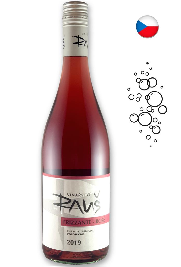 6 × Frizzanté rosé 2017, jakostní perlivé víno, Vinařství Rauš, polosladké