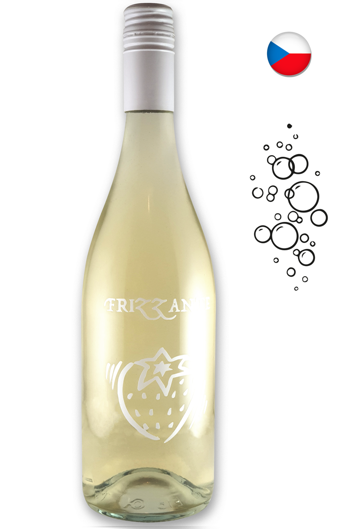 6 × Frizzanté Cuvéé 2018, jakostní perlivé víno, Vinařství Rauš, polosuché