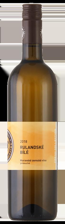 Vinařství u svatého Martina - Rulandské bílé - Zemské víno 2018 - 0,75l
