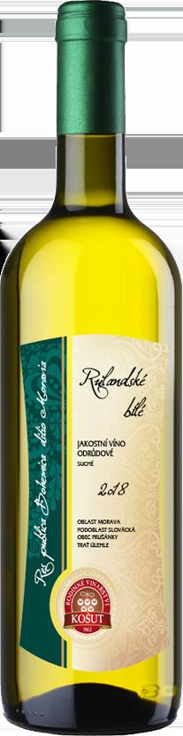 Rodinné vinařství Košut - Rulandské bílé - Jakostní víno 2018 - 0,75l