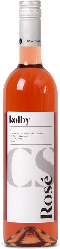 Kolby - Cabernet Sauvignon rosé (Classic) - Pozdní sběr 2017 - 0,75l
