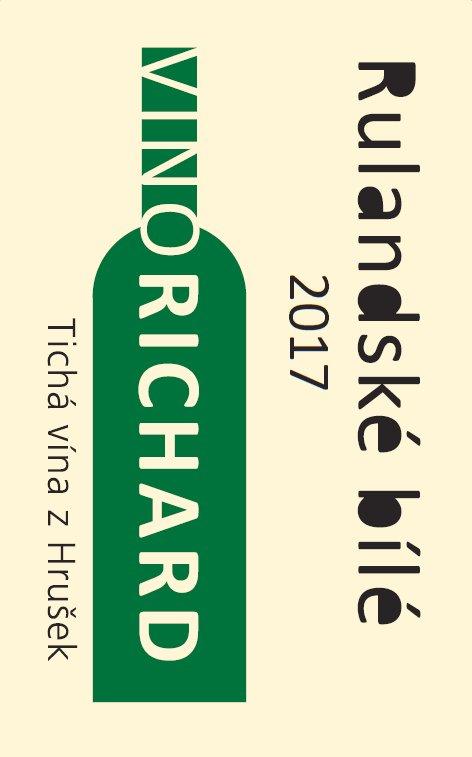VINO RICHARD - Ing. Richard Tichý - Rulandské bílé - Pozdní sběr 2017 - 0,75l