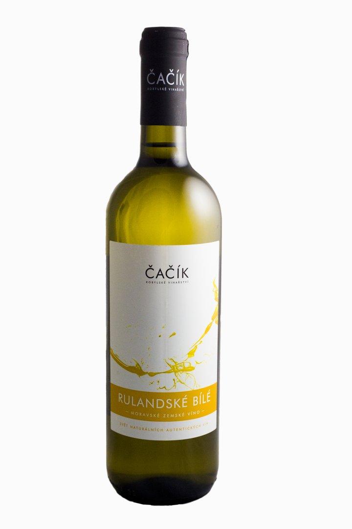 Kobylské vinařství Čačík - Rulandské bílé - Zemské víno 2016 - 0,75l