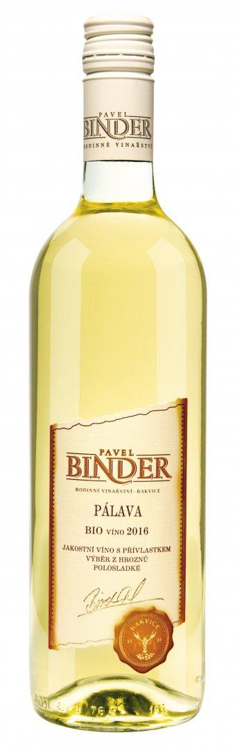 Pavel Binder - Pálava (BIO) - Pozdní sběr 2016 - 0,75l