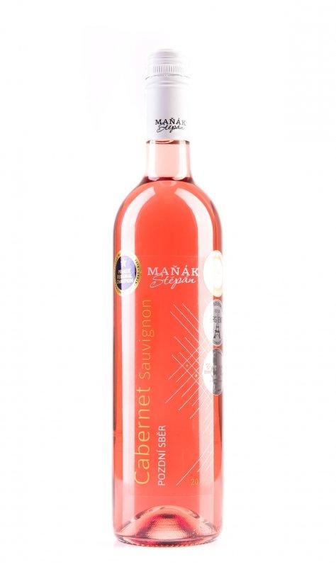 Vinařství Štěpán Maňák - Cabernet Sauvignon rosé - Pozdní sběr 2017 - 0,75l