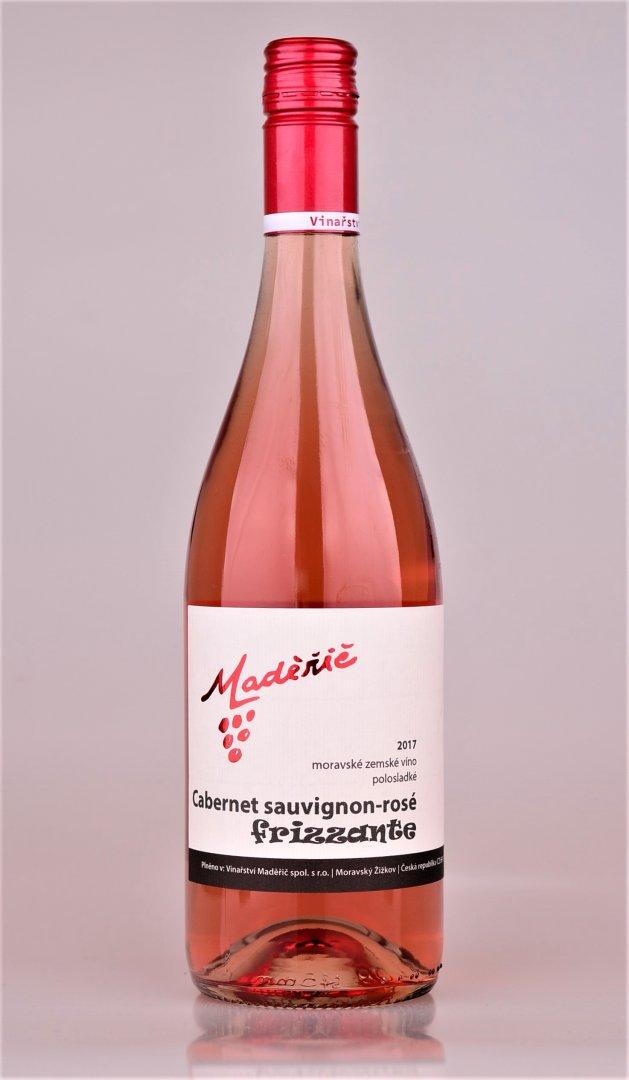 Vinařství Maděřič - Cabernet Sauvignon rosé FRIZZANTE - Zemské víno 2017 - 0,75l