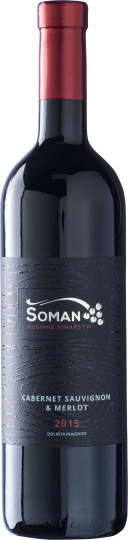 Vinařství Šoman - Cabernet Sauvignon + Merlot - Výběr z hroznů 2015 - 0,75l