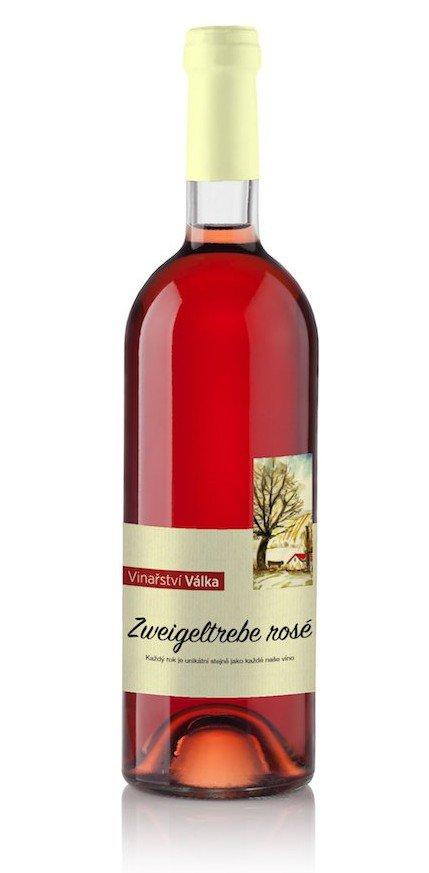 Vinařství Válka - Zweigeltrebe rosé - Pozdní sběr 2013 - 0,75l (balení 6 lahví)