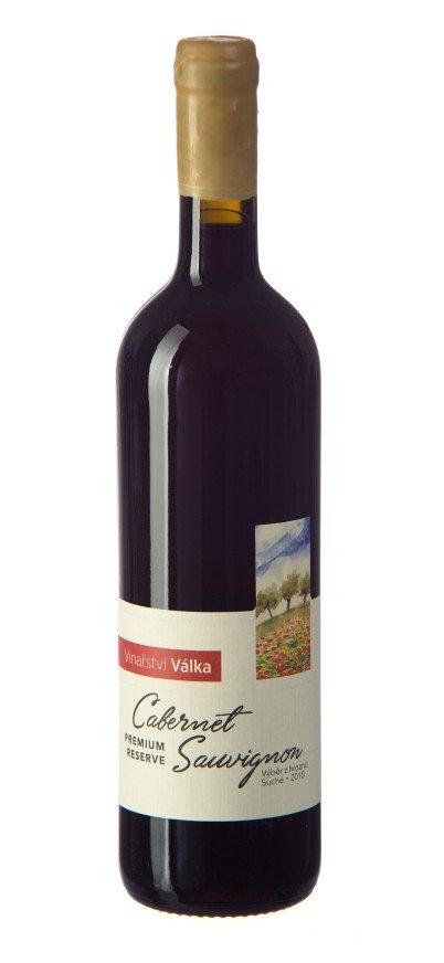 Vinařství Válka - Cabernet Sauvignon (Reserve Premium) - Výběr z hroznů 2015 - 0,75l (balení 6 lahví)