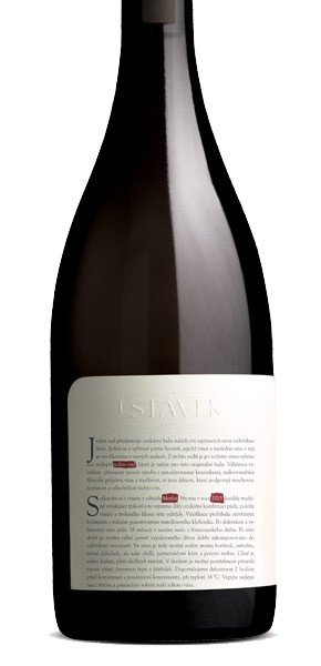 Víno J.Stávek - Merlot - jeden sud - Zemské víno 2015 - 0,75l