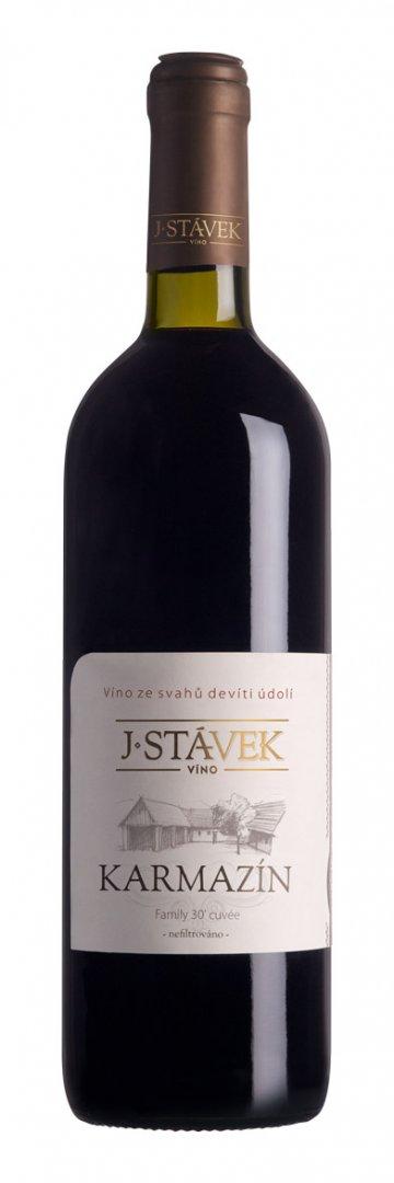 Víno J.Stávek - Karmazín - Zemské víno 2015 - 0,75l (balení 6 lahví)