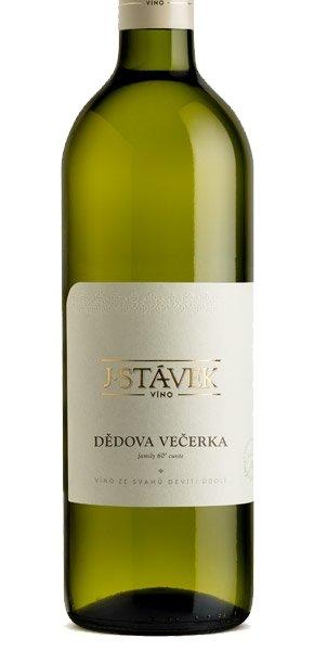 Víno J.Stávek - Dědova večerka - Zemské víno 2016 - 0,75l (balení 6 lahví)