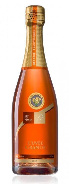 Sekt Jan Petrák - Cuvée Grande brut - Jakostní šumivé víno - sekt - 0,75l (balení 6 lahví)