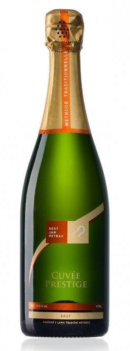 Sekt Jan Petrák - Prestige brut - Jakostní šumivé víno - sekt - 0,75l (balení 6 lahví)