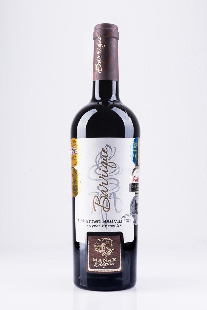 Vinařství Štěpán Maňák - Cabernet Sauvignon - Výběr z hroznů 2015 - 0,75l (balení 6 lahví)