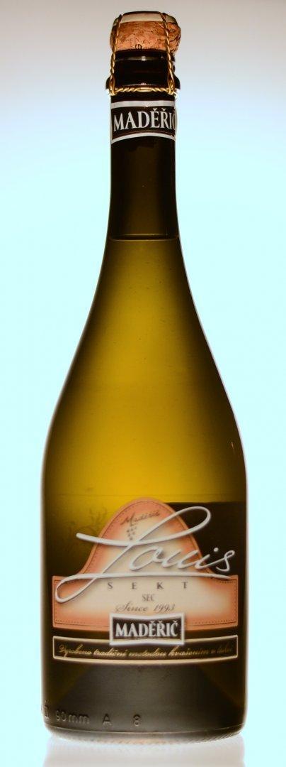 Vinařství Maděřič - Sekt Louis - Jakostní šumivé víno - sekt 2014 - 0,75l (balení 6 lahví)