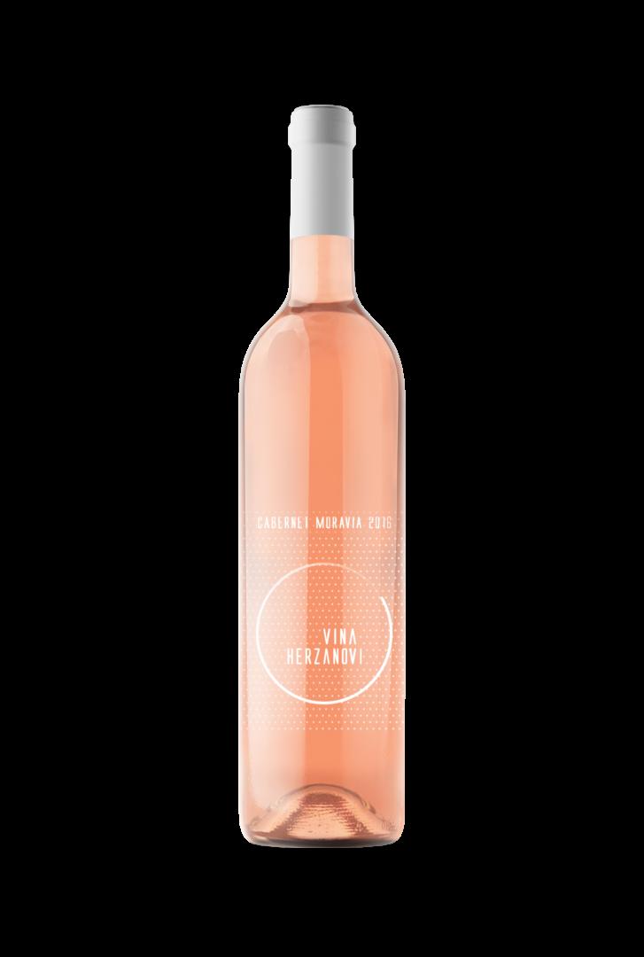 Vinařství Herzánovi - Cabernet Moravia rosé - Zemské víno 2016 - 0,75l (balení 6 lahví)