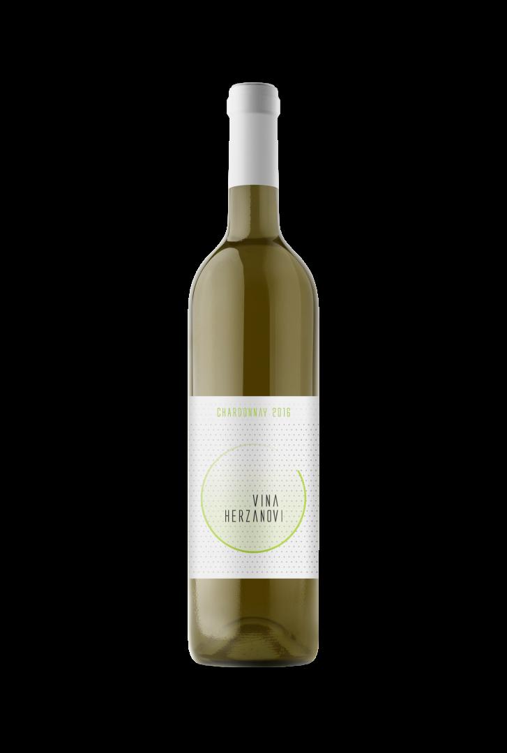 Vinařství Herzánovi - Chardonnay - Pozdní sběr 2016 - 0,75l (balení 6 lahví)