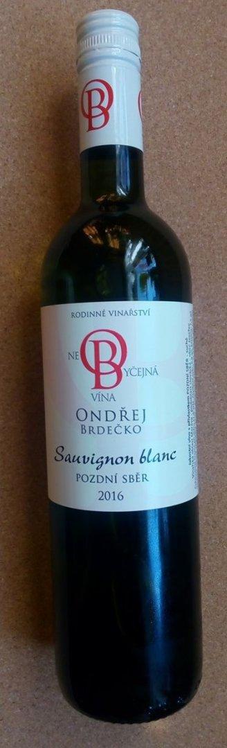 Vinařství Ondřej Brdečko - Sauvignon blanc - Pozdní sběr 2016 - 0,75l (balení 6 lahví)