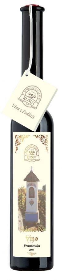 Vinařství Košut - Frankovka - Slámové víno 2015 - 0,2l (balení 6 lahví)