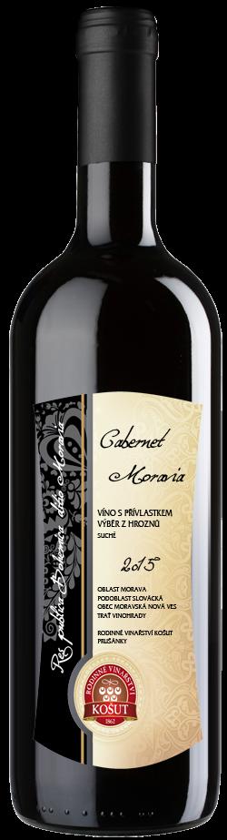 Vinařství Košut - Cabernet Moravia - Výběr z hroznů 2015 - 0,75l (balení 6 lahví)