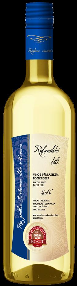 Vinařství Košut - Rulandské bílé (Melleus) - Pozdní sběr 2016 - 0,75l (balení 6 lahví)
