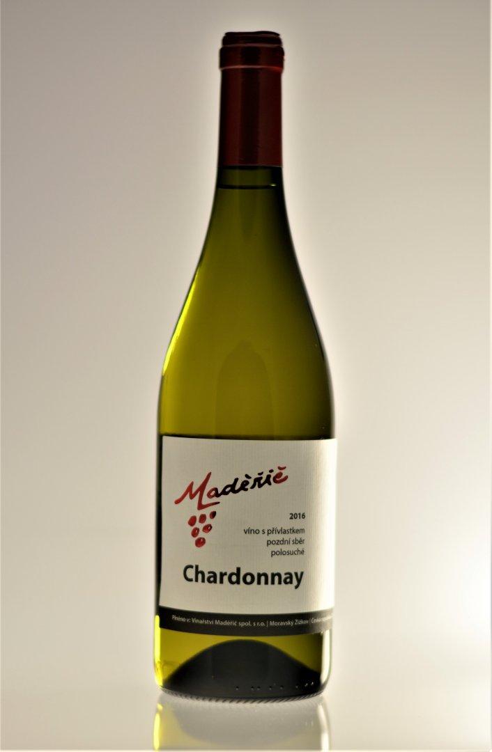 Vinařství Maděřič - Chardonnay - Pozdní sběr 2016 - 0,75l (balení 6 lahví)