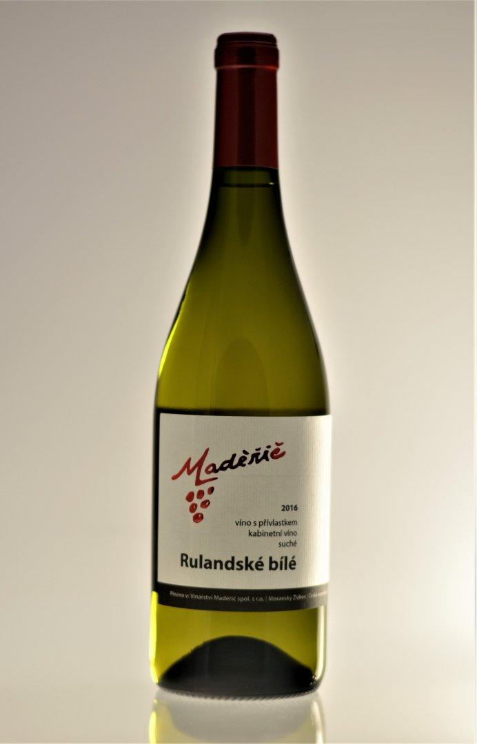 Vinařství Maděřič - Rulandské bílé - Kabinetní víno 2016 - 0,75l (balení 6 lahví)